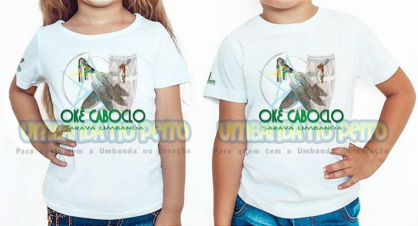 Camiseta Infantil Salve Caboclo, Salve a Umbanda