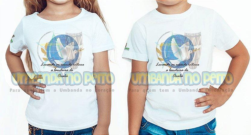 Camiseta Infantil Bandeira de Oxalá