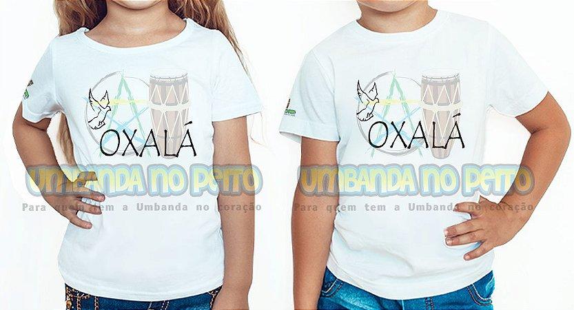 Camiseta Infantil Oxalá é Paz
