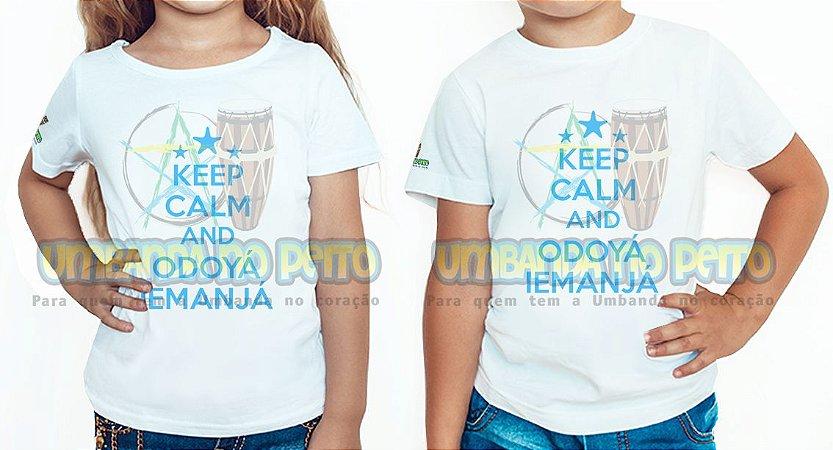 Camiseta Infantil Keep Calm and Odoyá Iemanjá