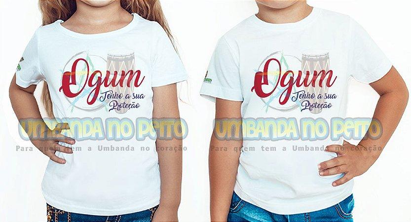 Camiseta Infantil Ogum Tenho a sua Proteção
