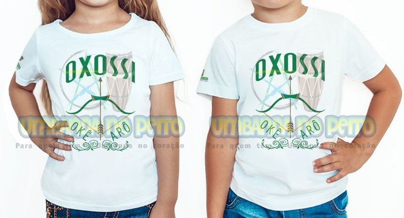 Camiseta Infantil Oxossi Arco e Flecha
