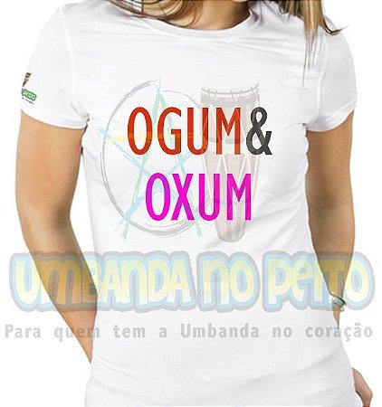 Baby Look Coleção Pai & Mãe: Ogum & Oxum