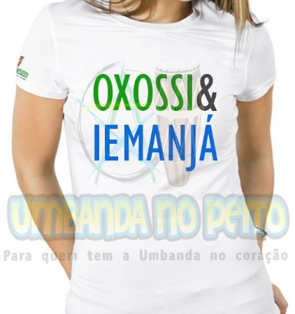 Baby Look Coleção Pai & Mãe: Oxossi & Iemanjá