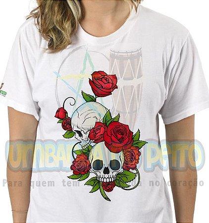Camiseta Rosa Caveira