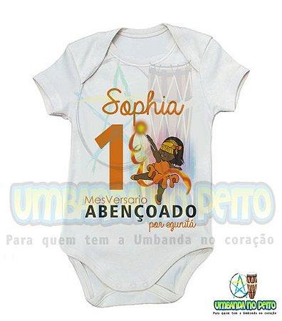 Body MesVersario Egunitá Kids + Nome do Bebê