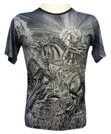 Camiseta Preta São Jorge Viscose