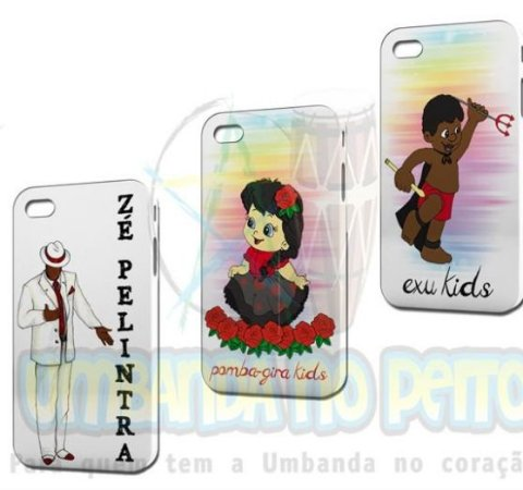 Case Zé Pelintra + Case Pomba-Gira Kids + Case Exu Kids (Iphone 4/4S)