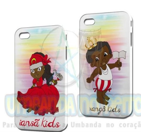 Case Iansã Kids + Case Xangô Kids (Iphone 4/4S)