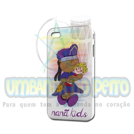 Case Branca Nanã Kids (somente iPhone 4/4S)