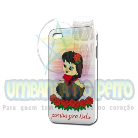 Case Branca Pomba-Gira Kids (somente iPhone 4/4S)