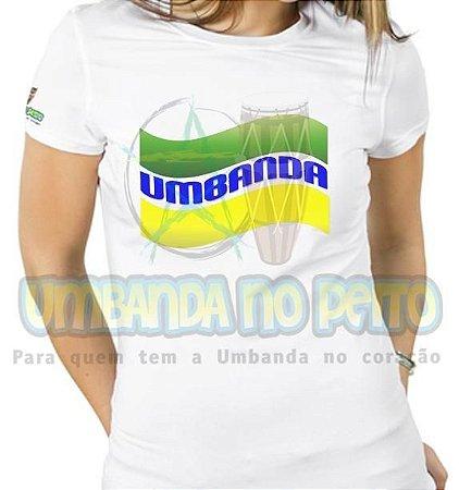 Baby Look Umbanda Verde e Amarelo