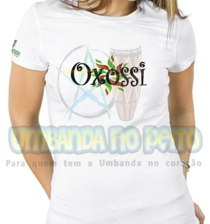 Baby Look Oxossi Folhas