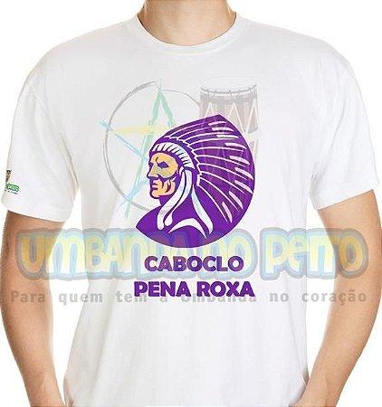 Camiseta Caboclo Pena Roxa