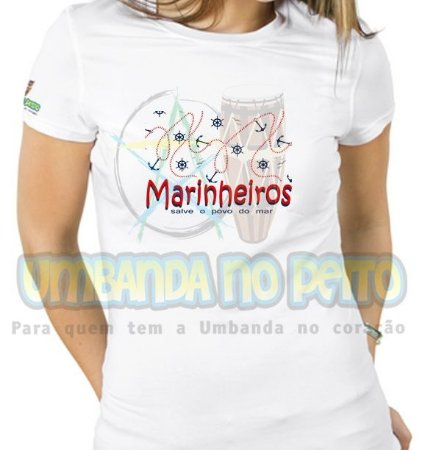 Baby Look Saravá Marinheiro