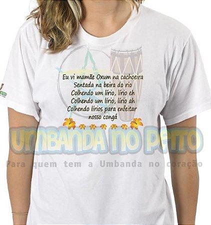 Camiseta Eu Vi Mamãe Oxum na Cachoeira