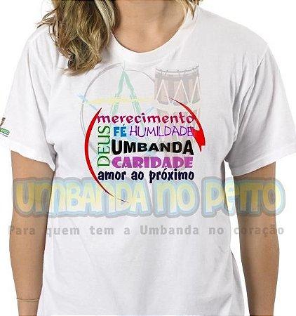 Camiseta Valores da Umbanda