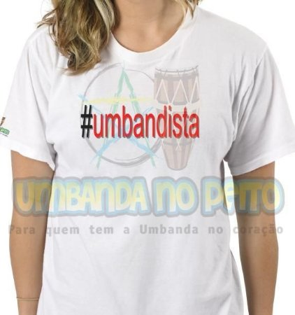Camiseta #Umbandista