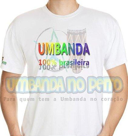 Camiseta Umbanda 100% Brasileira