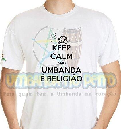 Camiseta Keep Calm and Umbanda é Religião