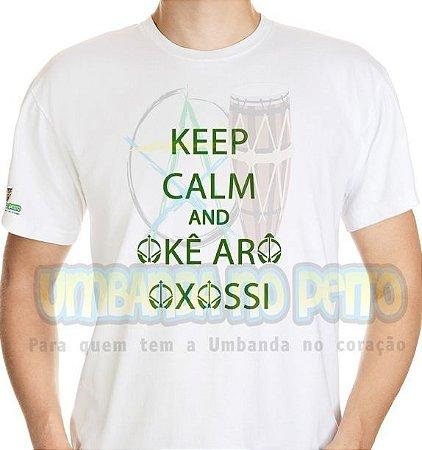 Camiseta Keep Calm and Okê Arô Oxossi