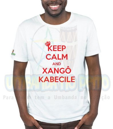 Camiseta Keep Calm and Xangô Kabecile