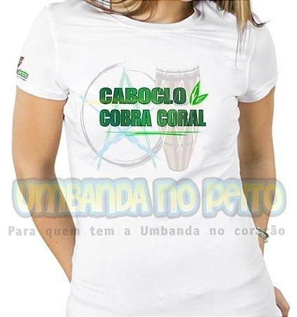Baby Look Caboclo Cobra Coral