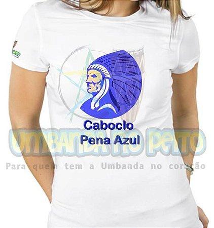 Baby Look Caboclo Pena Azul