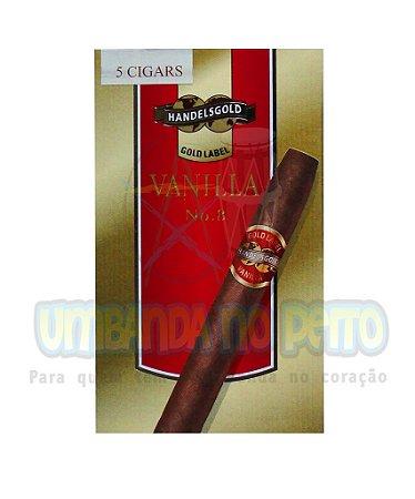 Charuto Handelsgold Vanilla nº 8 Gold Label (caixa c/5)