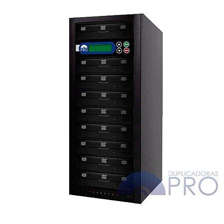 Duplicadora de DVD e CD com 9 Gravadores Philips / Lite-on
