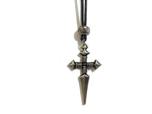 Colar Cruz Medieval Religion