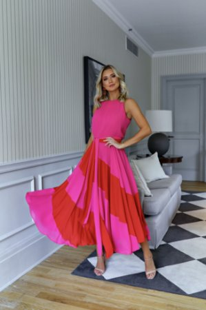 Vestido Chiffon Duo Colors