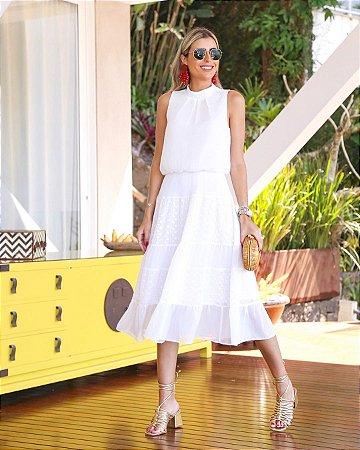 Vestido Chiffon Branco