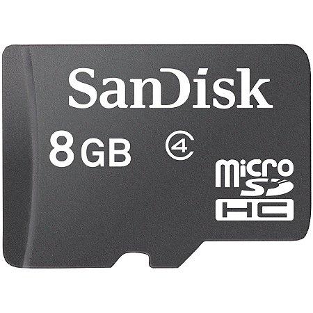 Cartão de Memória SanDisk microSD com Adaptador - 8GB
