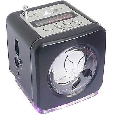 Mini Caixa De Som Portátil Radio Fm Ws-908rl Sdhc Pen Drive Preta