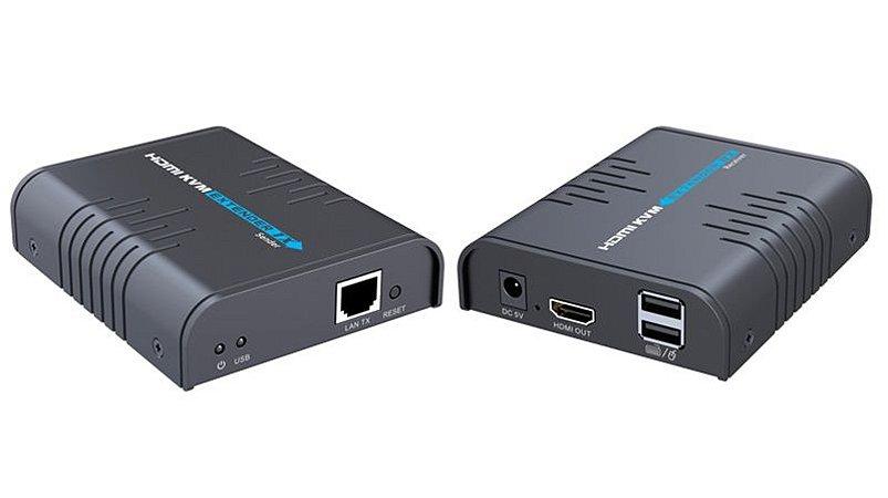 KVM Extender HDMI, Teclado e Mouse Até 120M