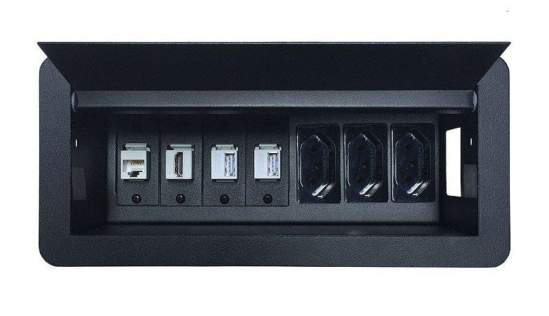 Caixa De Conexão Para mesas e Bancadas DMEX07-M13