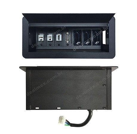 Caixa Tomada Para Mesas ou Bancada de Trabalho - DMEX07-M16