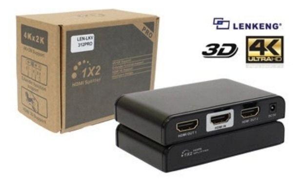 Splitter Hdmi 2 Portas 4K Tamanho Slim - LKV312
