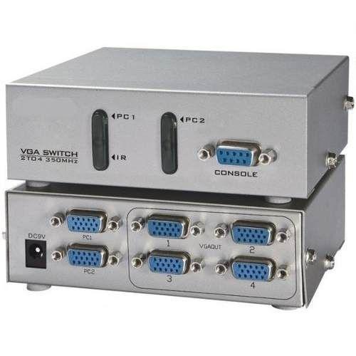 Switch Vga 2x1 Com Divisor 1x4 Conjugado