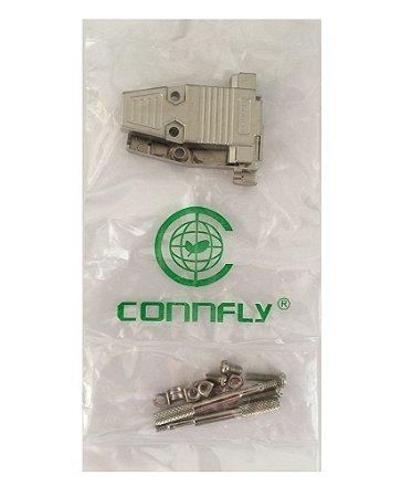 Capa Metalica Para Conector DB9 ou DB15 Kit Com 10 Pçs