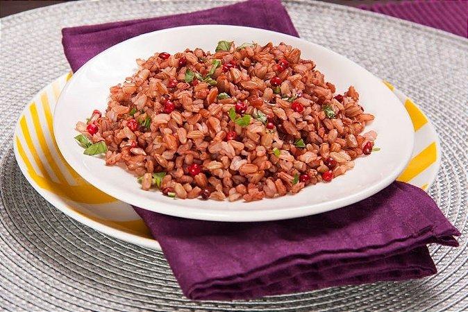Arroz vermelho com azeite e pimenta rosa