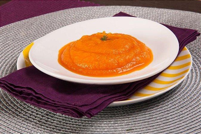Purê de cenoura com gengibre - sem leite