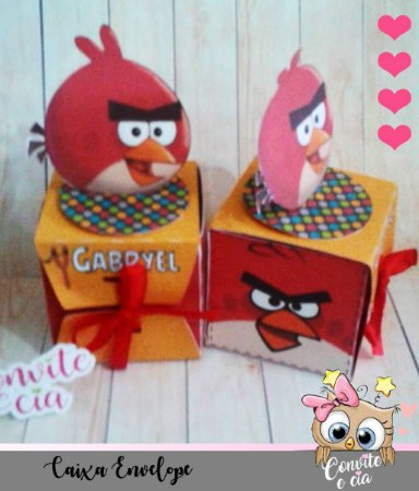 Caixa Envelope Angry Birds