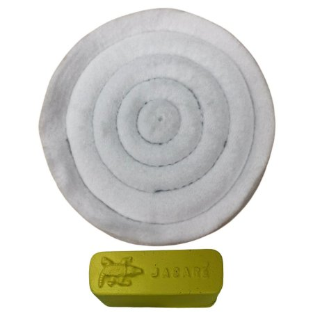 Kit Para Polir Acrílico Pasta Amarela Roda De Flanela 15 Cm