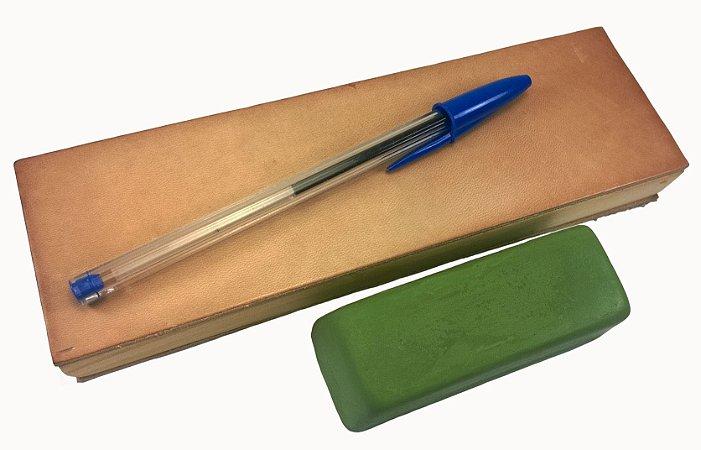Strop de couro pequeno de bolso para afiar polir facas
