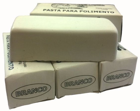 Massa De Polir Alumínio Aço Inox Branca Lote Com 10 Unidades