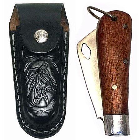 Canivete Pequeno Com Bainha Canivete Da Roça Aço Carbono