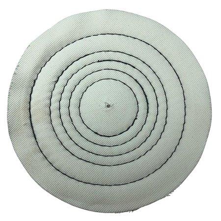 Roda De Pano Disco Para Polir E Lustrar Algodão Branca 15 Cm