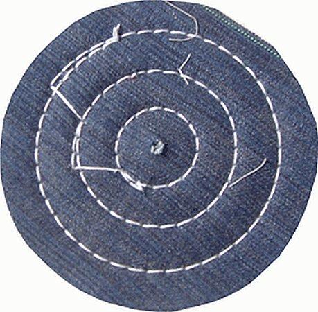 Roda De Pano Disco De Brim Costurado Para Polimento 10 Cm